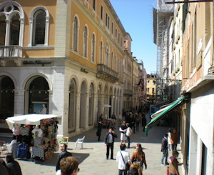 Venice, Italy - View of Calle larga XXII marzo